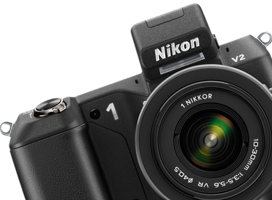 Nikon 1 V2 product photograph with 1 NIKKOR 10-30mm lens