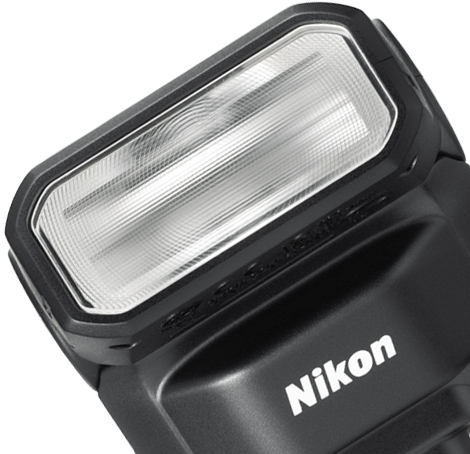 close up product shot of the Nikon 1 SB-N7 Speedlight