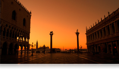 low light photo of San Marco square in Venice Italy