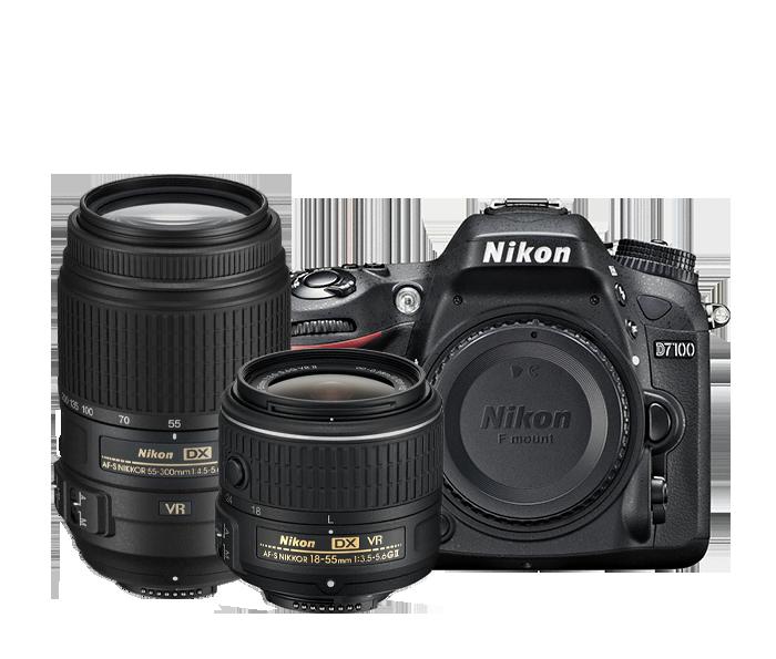 D7100 Dual Lens Wi-Fi Camera Kit