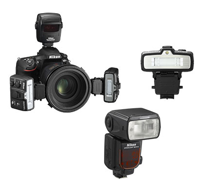 product shot showing the R1C1 and SB-R200 and SB-700 Speedlights