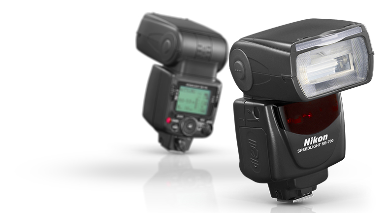 product shot of the SB700 Speedlight, front and back views