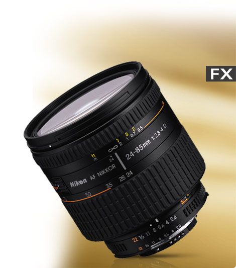 product photo of the AF Zoom-NIKKOR 24-85mm f/2.8-4D IF lens