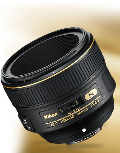 Photo of the AF-S NIKKOR 58mm f/1.4G lens
