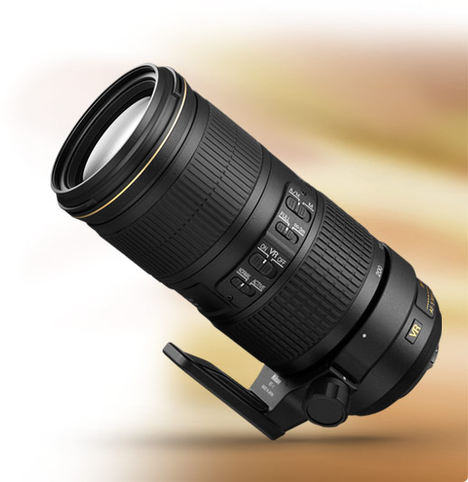 product photo of the AF-S NIKKOR 70-200mm f/4G ED VR lens