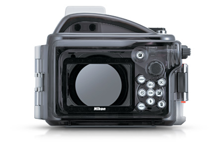 Image of the rear of the WP-N1 waterproof housing