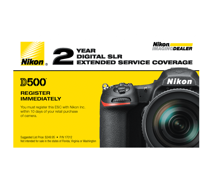 D500 Extended Service Coverage (2 Years) from Nikon