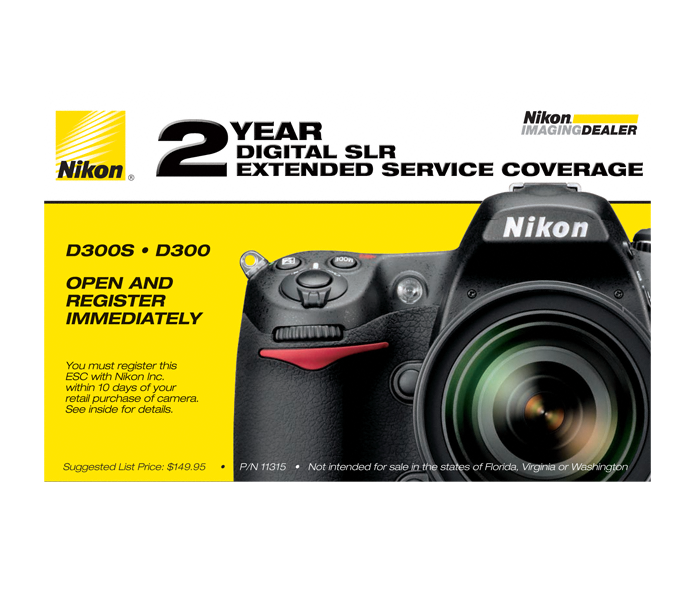 Photo of D300, D300s Extended Service Coverage (2 Years)