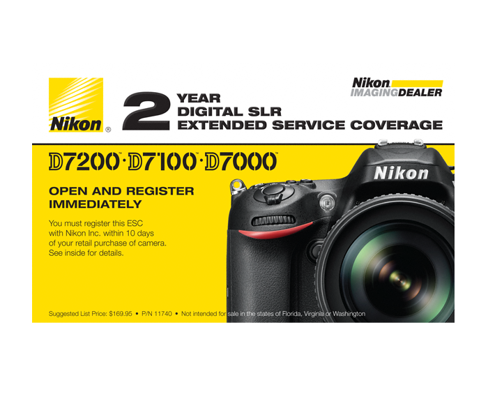 Photo of  D7000, D7100, D7200 Extended Service Coverage (2 Years)