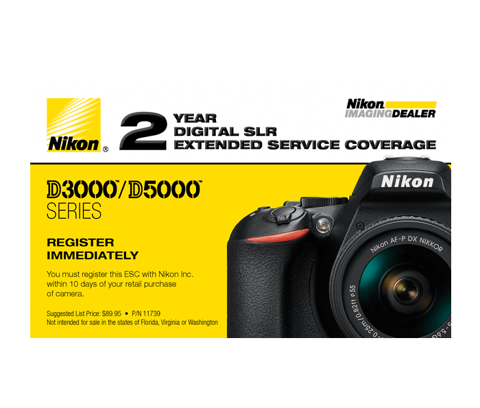 Photo of  D3000/D5000 Series Extended Service Coverage (2 Years)