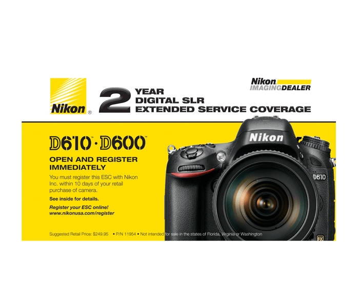 Photo of  D610, D600 Extended Service Coverage (2 Years)