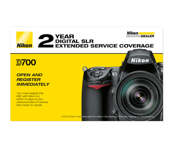 Photo of D700 Extended Service Coverage (2 Year)