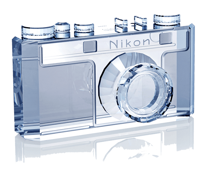 Photo Of Nikon 100th Anniversary Crystal Creation Model