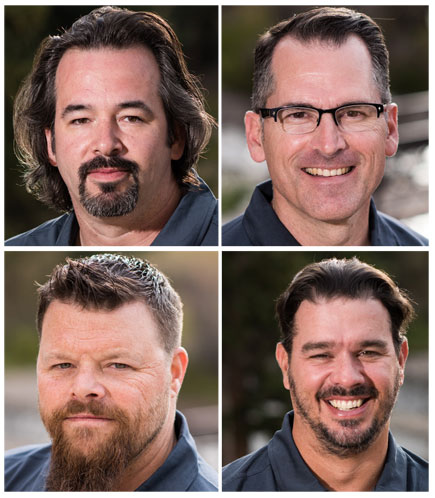 Nikon School instructors JC Carey, Andy Dunaway, Brien Aho and Chad McNeeley