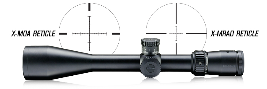 Nikon's X-MOA and X-MRAD Reticles