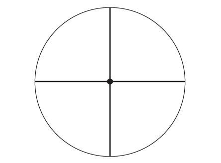 Fine Crosshair With Dot Reticle
