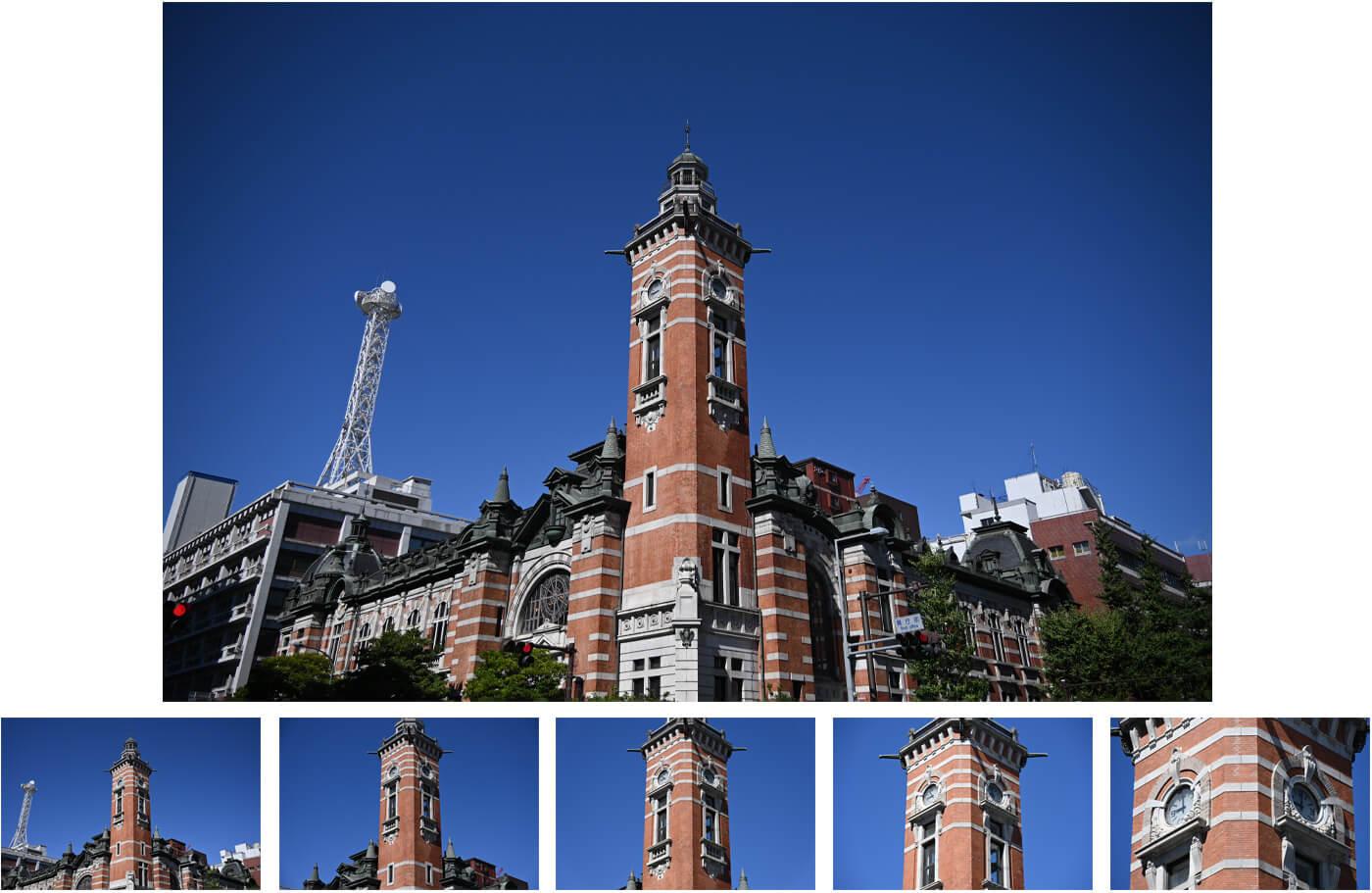 Zoom range of images of buildings, taken with the NIKKOR Z DX 18-140mm f/3.5-6.3 VR