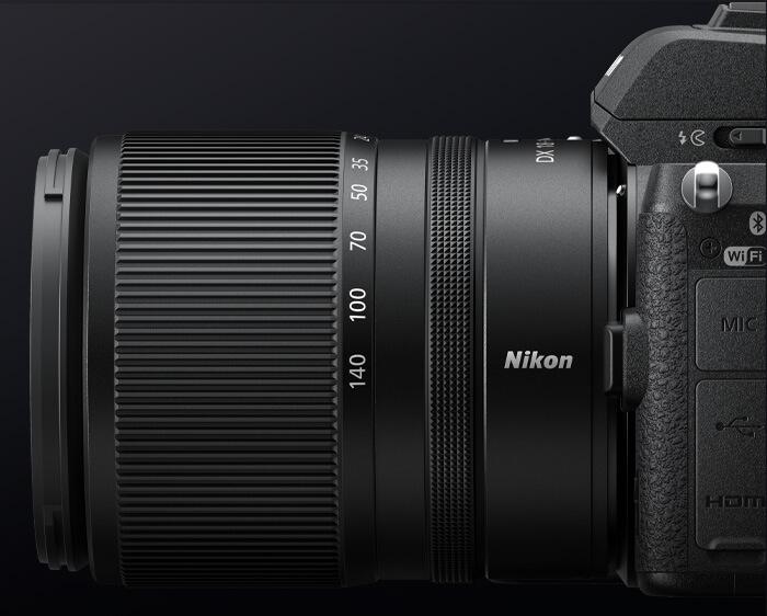 NIKKOR Z DX 18-140mm f/3.5-6.3 VR lens on a Z body