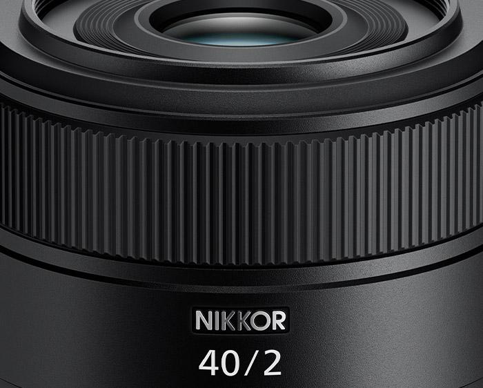 photo of the lens barrel of the NIKKOR Z 40mm f/2 lens