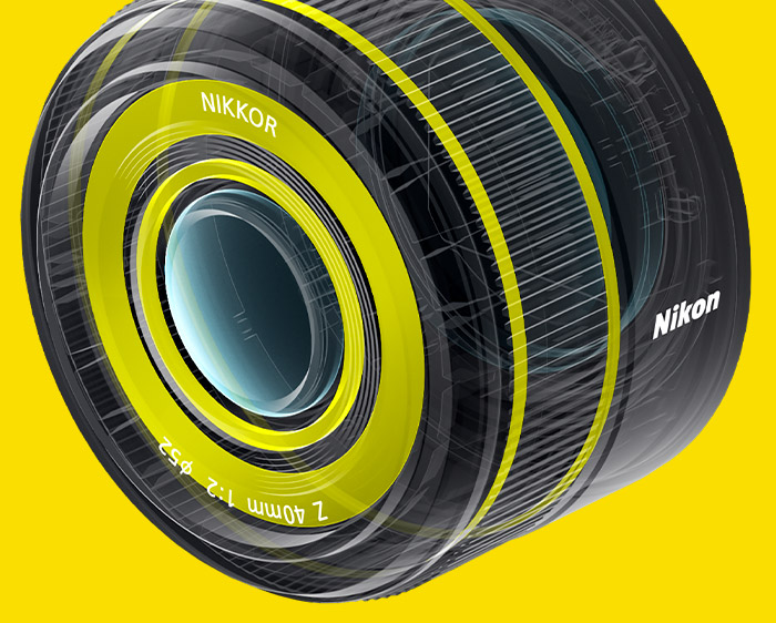Illustration of the dust and drip resistance of the NIKKOR Z 40mm f/2 lens