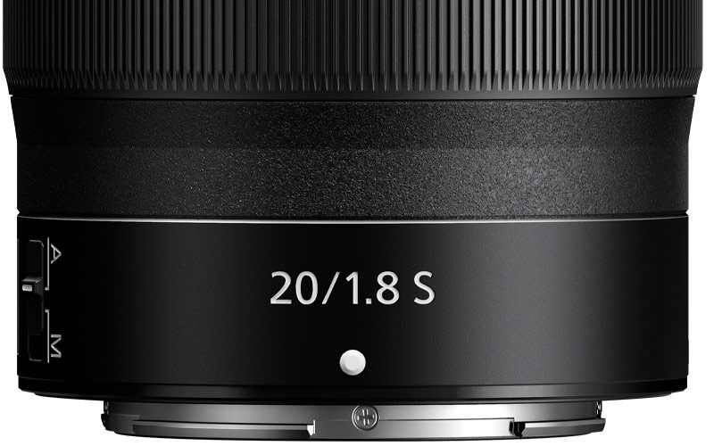 image of the control ring of the NIKKOR Z 20mm f/1.8 S lens