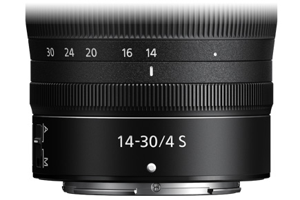 close up photo of the control ring on the NIKKOR Z 14-30mm f/4 S lens