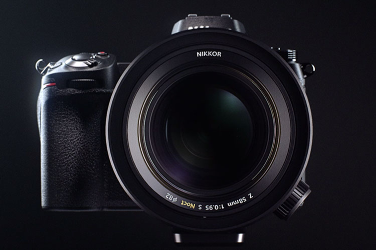 photo of the NIKKOR Z 58mm f/0.95 S Noct lens on a Nikon Z series camera body