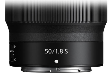 product photo of the NIKKOR Z 50mm f/1.8 S showing the control ring