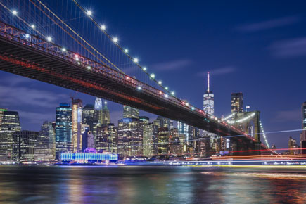 Photo of a the NYC skyline, taken with the Z7 and NIKKOR Z 35mm f/1.8 S lens