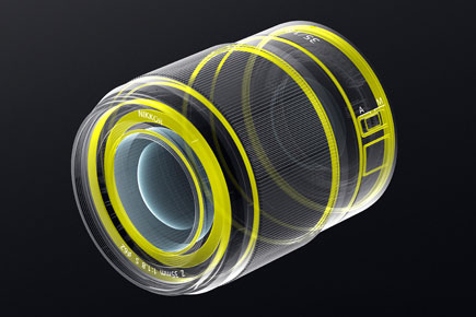 illustration of the NIKKOR Z 35mm f/1.8 S lens