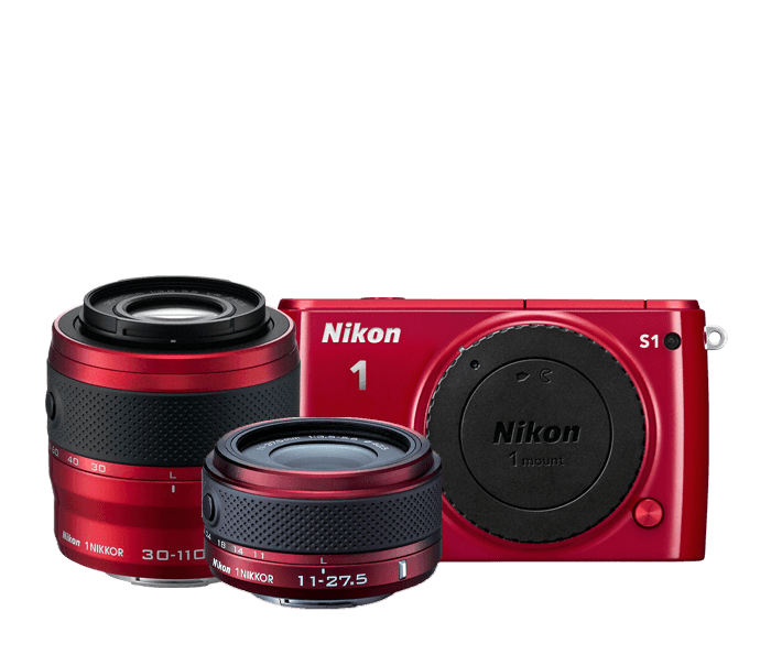 Photo of Nikon 1 S1 Two-Lens Kit Red
