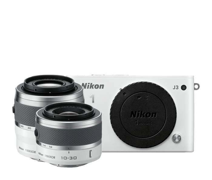 Photo of Nikon 1 J3 Two-Lens Zoom Kit White