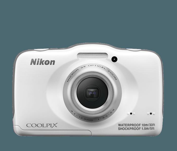 Nikon COOLPIX S32 Waterproof Digital Camera | Compact Waterproof ...