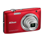 Red  COOLPIX S2800