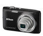 Black  COOLPIX S2800