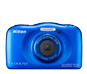 Blue option for COOLPIX S33 (Refurbished)