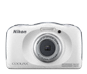 Blanco  COOLPIX S33