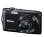 Black option for COOLPIX S3300