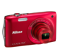Red option for COOLPIX S3300
