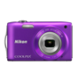 Purple option for COOLPIX S3300