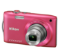 Pink option for COOLPIX S3300