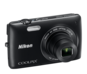 Black option for COOLPIX S4300