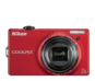Red  COOLPIX S6000