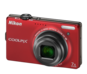 Red option for COOLPIX S6000