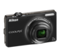 Black option for COOLPIX S6000