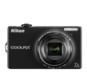 Black  COOLPIX S6000