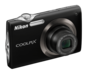 Black  COOLPIX S3000