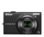 Black  COOLPIX S6100