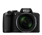 Black  COOLPIX B600