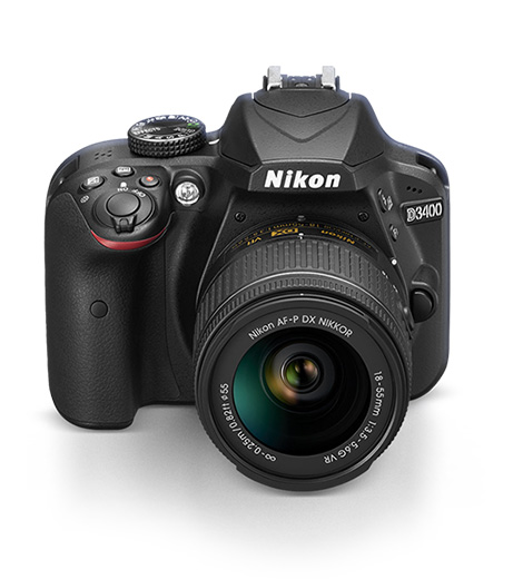Photo of the Nikon D3400 DSLR